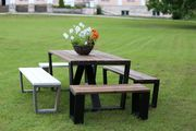 Ecofurn Jussi set incl. 160 cm table, 2 pcs 100 cm and 2 pcs 160 cm benches