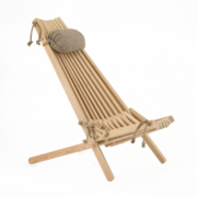 Ecofurn EcoChair LARCH by nature protecting itself in outdoor use (natural)
