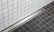 Unidrain Highline linear floor drain with frame and panel