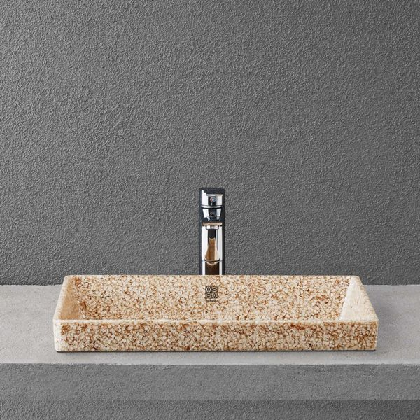 Woodio Cube 60 recessed washbasin